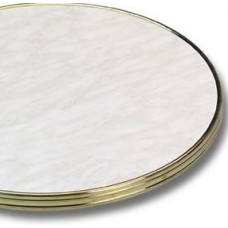 Bistro White Marble Brass Edge