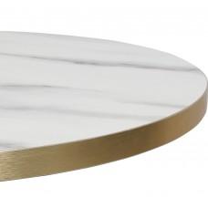 Calypso Brass White Marble