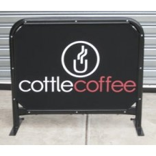 1m Cafe Barrier - Round Tube
