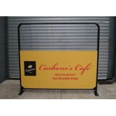 2m x 1.5m Cafe Barrier - Round Tube