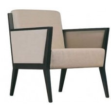 Cinquanta Single Lounge with Upholstered Side Panels